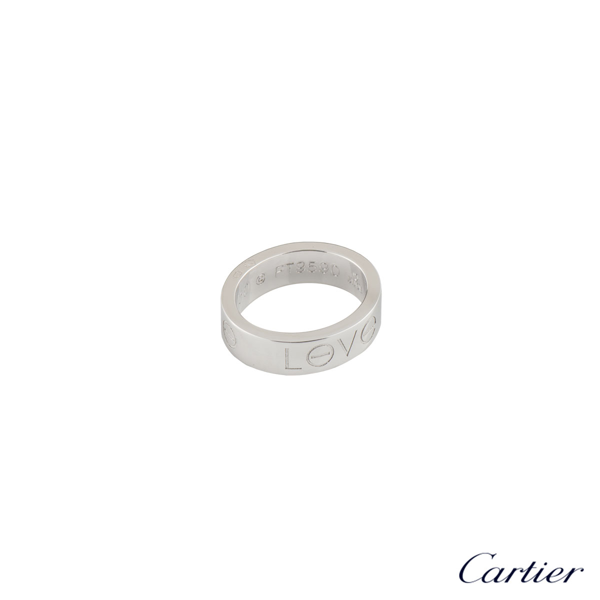Cartier White Gold Love Charm